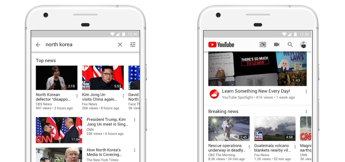 YouTube fixing breaking news problem