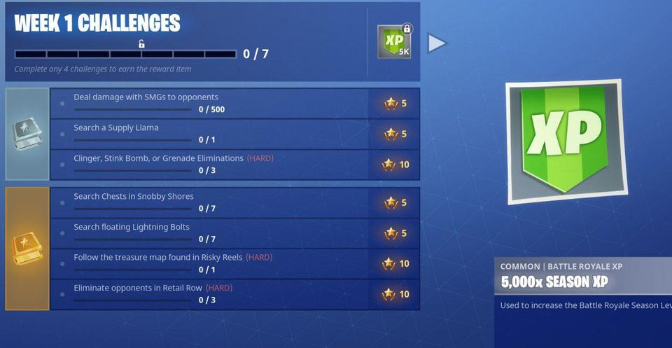 Fortnite Season 5; Week 1 Challenges are Relatively Easier to Overcome