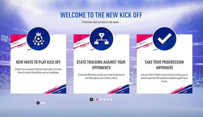 FIFA 19 Kick-Off Mode will be Totally Redesigned this Time Around