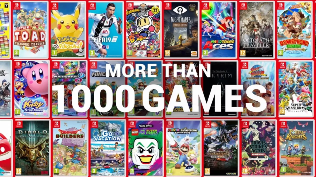 Nintendo Switch Reaches 1000 games