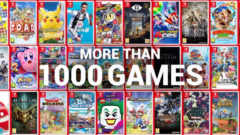Nintendo Switch Reaches 1000 games
