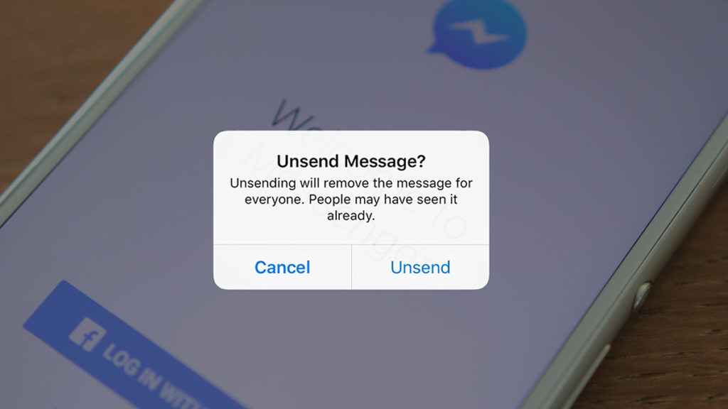 Facebook Messenger Unsend Message Option