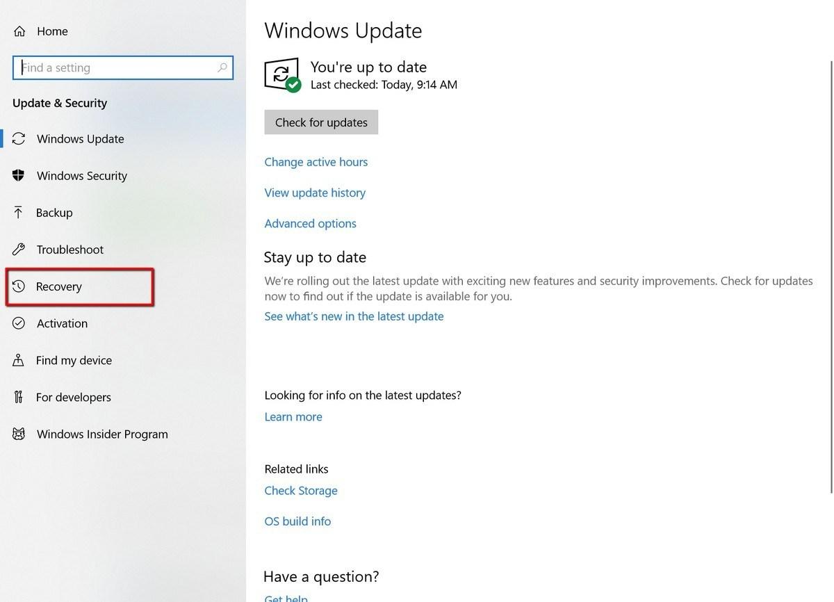 Factory Reset Windows 10