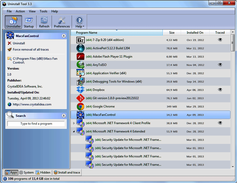 Uninstall Tool 3.5.8 Build 5620