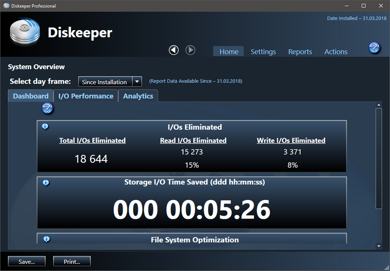 Diskeeper 18 Professional 20.0.1300