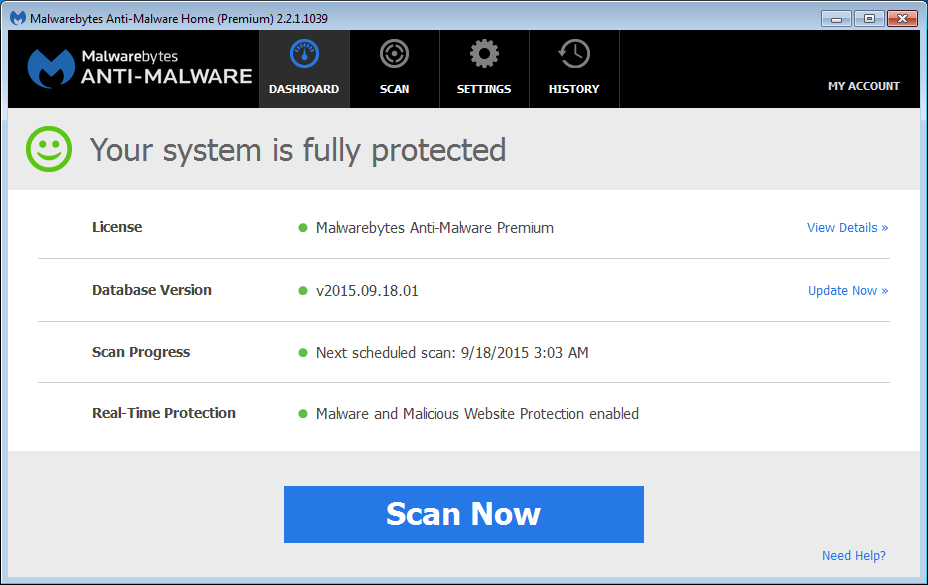 Malwarebytes 3.8.3 Build 2965