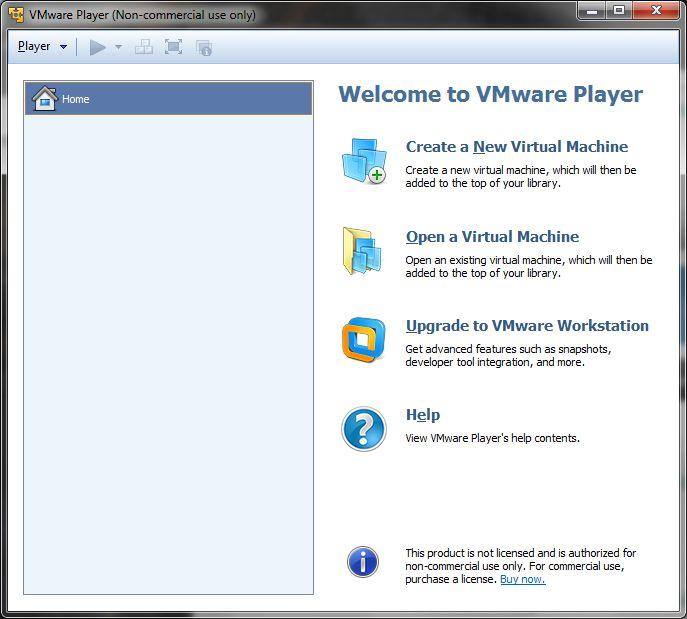 VMware Workstation Player 15.1.0