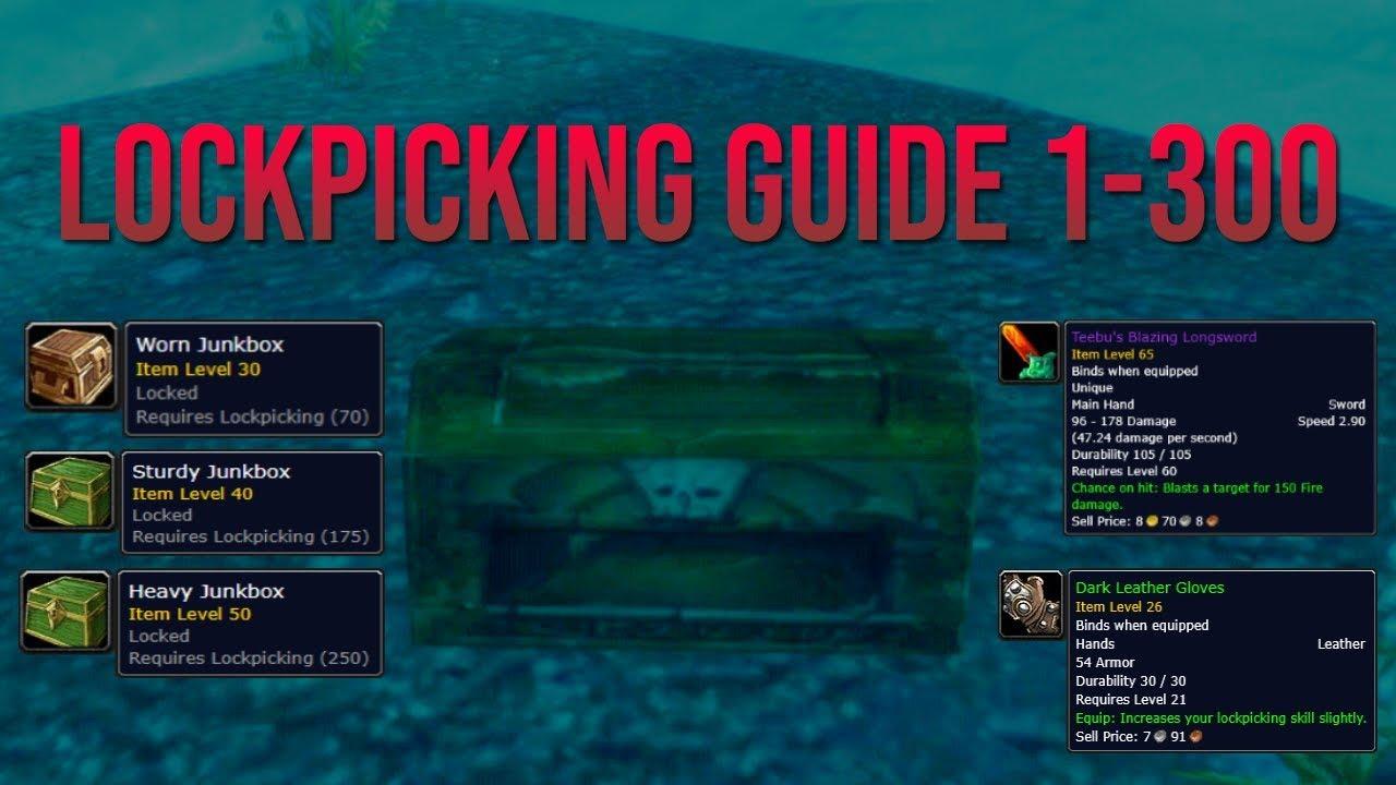 lockpicking guide classic