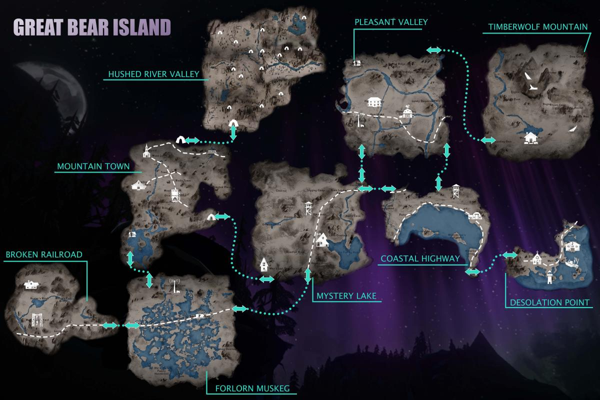Region Maps and Transition Zones