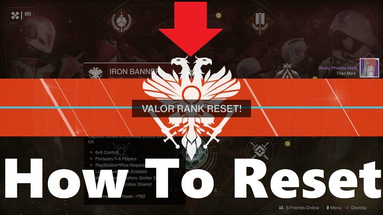 Reset Valor Rank