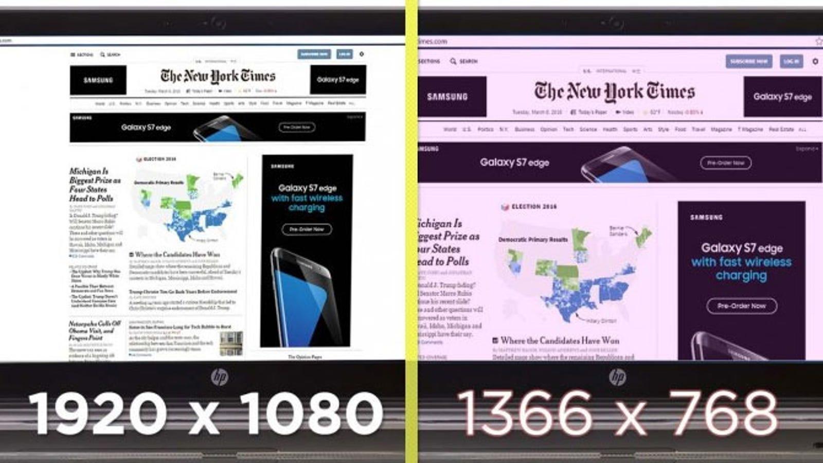 1366x768 Resolution vs. 1920x1080 Resolution