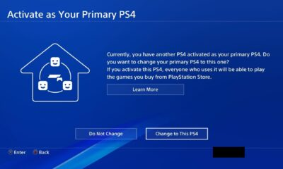 Activate Primary PS4