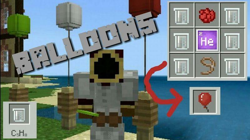 Balloons in Minecraft