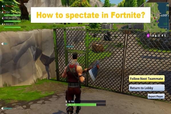 Spectate in Fortnite