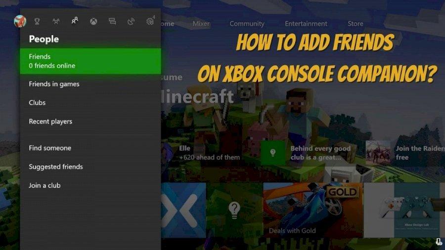 Add Friends on Xbox Console Companion