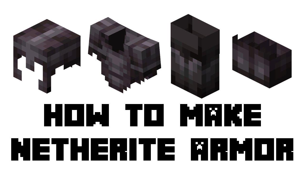 Netherite Armor in Minecraft