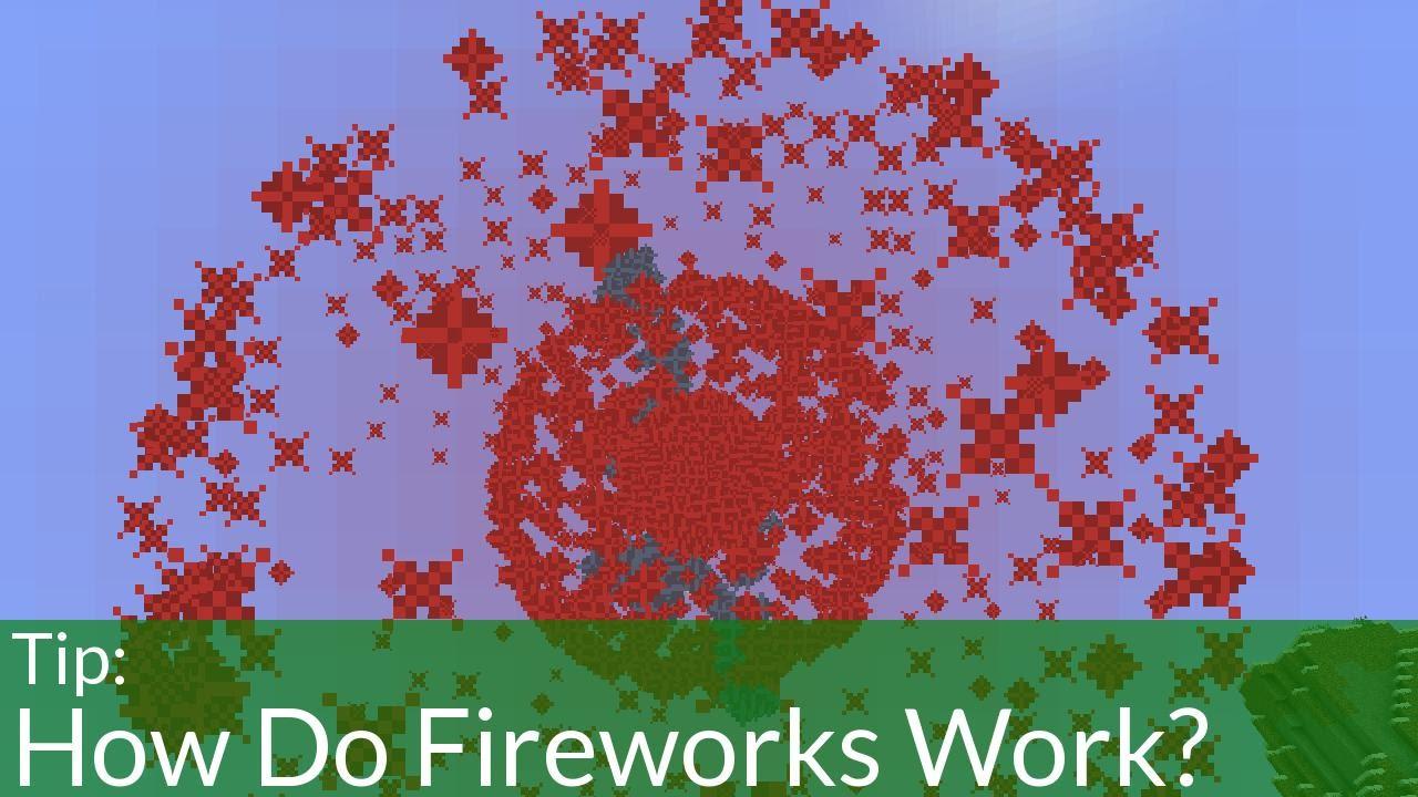 Fireworks in Minecraft